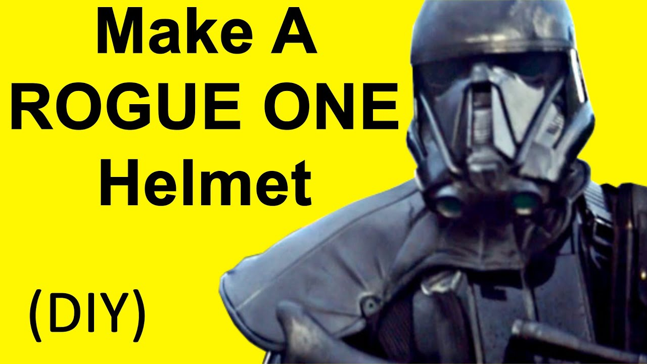 How to make a rogue one helmet death trooper diy youtube solutioingenieria Image collections