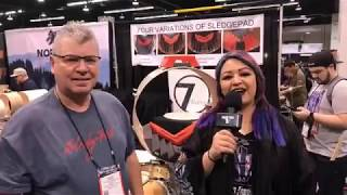 SledgePad Innovations at NAMM 18 on Drum Talk TV