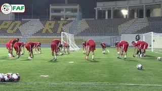 بالفيديو.. الخضر يجرون أول حصة تدريبية لهم بالقاهرة