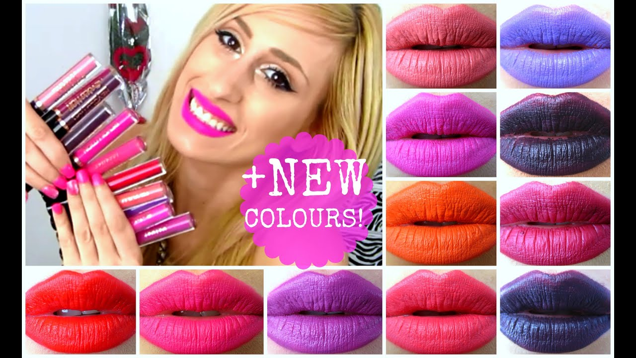 Swatches All Makeup Revolution Lip Lacquers