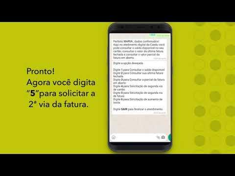 Whatsapp Caedu - Solicite e consulte a fatura do seu cartão