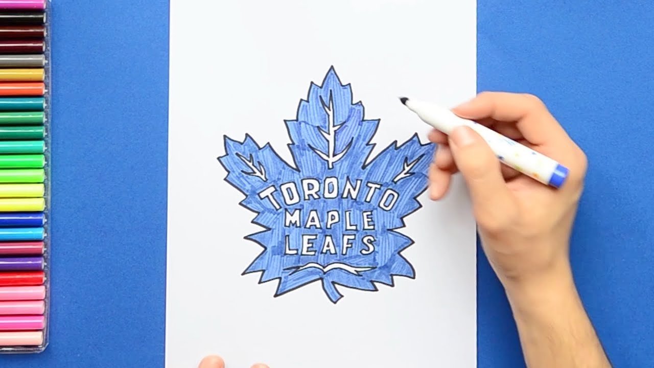 How To Draw The Toronto Maple Leafs Logo Nhl Team Youtube