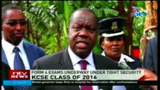 Education CS oversees distribution of KCSE 2016 papers