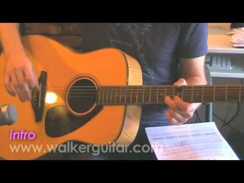 Maps acoustic  Yeah Yeah Yeahs guitar lesson with TABS