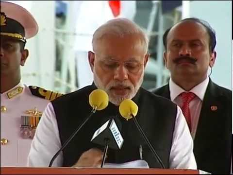 PM Modi at Joint Commissioning of Offshore Patrol Vessel Barracuda at Port Louis Harbour, Mauritius