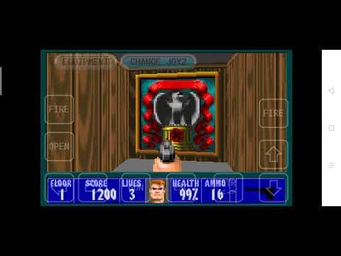 Wolfenstein 3d game play par1 happy new year |