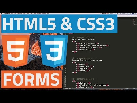 HTML5 And CSS3 Beginner Tutorial 37 - Introduction To Forms