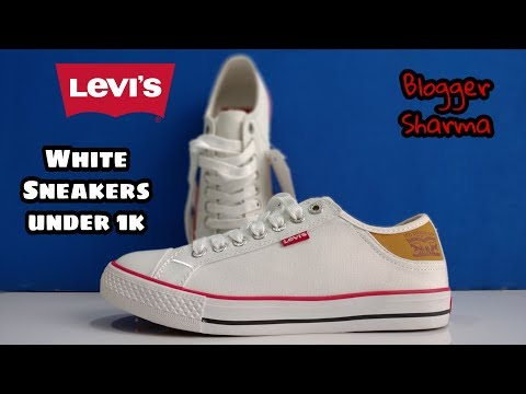 Levi's White Sneakers Unboxing| Sneakers under 1k | budget sneakers