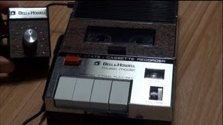 "1970 Bell & Howell ""Music Model"" Cassette Recorder with Speed Control"