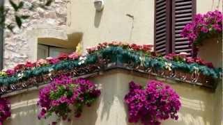 UMBRIA - SPELLO Finestre Balconi Vicoli fioriti  [full HD]