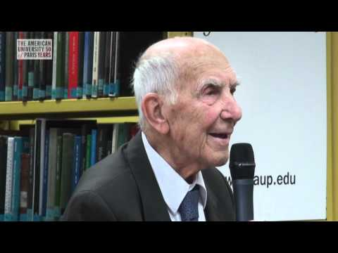A talk with Stephane Hessel at The American University of Paris