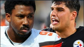 Browns' MYLES GARRETT Says MASON RUDOLPH used RACIAL SLUR Before BRAWL