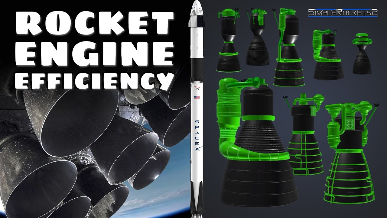 Rocket engine efficiency demonstrated with Simplerockets 2 and SpaceX  Falcon 9