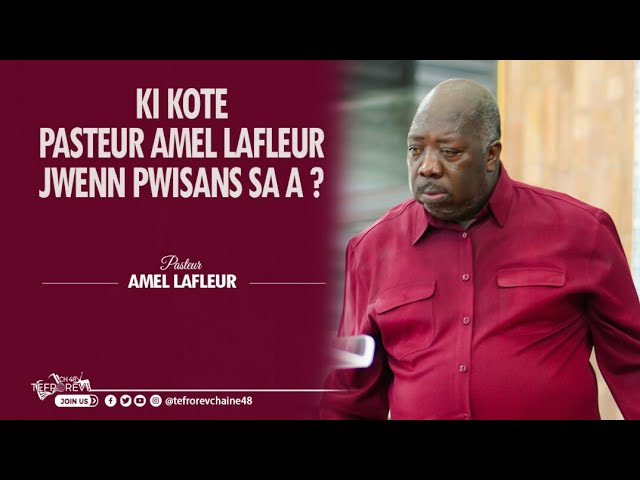 Ou menm tou ou ta renmen konnen ki kote Pasteur Amel jwenn ak pwisans sa a, gade videyo a jiskalafen