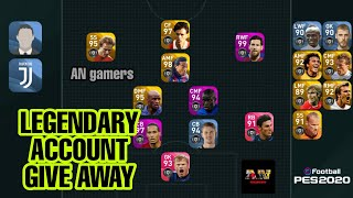 Pes account giveaway    Legendary account 🔥🔥!!! Football Pes 2020 #account giveaway
