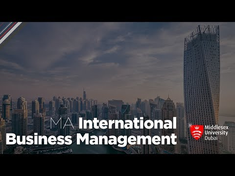 MA International Business Management | Middlesex University in Dubai