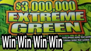 4 wins in a row. EXTREME GREEN $30 PA LOTTERY SCRATCH TICKETS