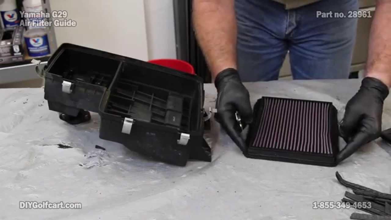 air filter yamaha g16 g19 g22 g29 k n golf cart [ 1280 x 720 Pixel ]