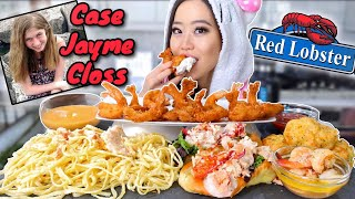 RED LOBSTER ALFREDO + ROLLS + COCONUT SHRIMP + MORE MUKBANG | Eating Show