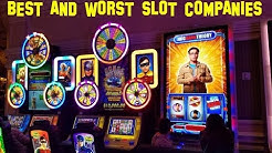 Top 5 BEST and WORST Slot Machine Companies (In my opinion)