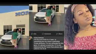 Trinity Bethune Called Bon-Quisha After Purchasing Her First Car