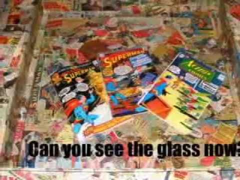 Recycled Coffee Comic Book Table Art Superman Dc Marvel