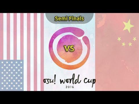 osu! World Cup 2016 | Semifinals | USA vs China /w Twitch Chat