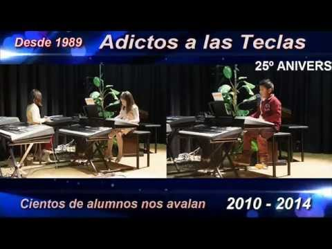 25 aniversario escuela de música Adictos a las Teclas. Clases de piano, organo, teclado