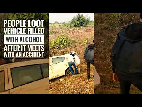 PEOPLE RUSH TO RESCUE ALCOHOL ! TRUTH OF OUR SOCIETY