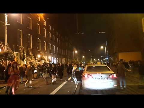 Halloween night in Dublin driving around