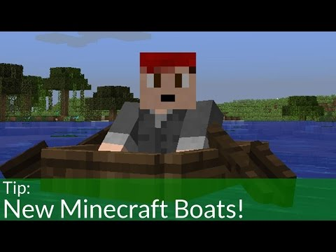 How To Use New Boats In Minecraft