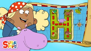 "A Hidden Treasure Hunt on ""H"" Island |  Alphabet Cartoon For Kids"