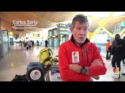 Expedición Dhaulagiri. #IFEMA patrocinio Carlos Soria. Aeropuerto Adolfo Suárez Madrid-Barajas