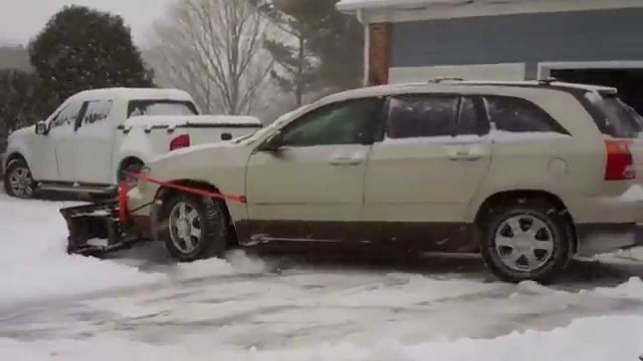 Jeep In Snow >> Nordic Plow's Snow plow for Cars & SUV's - YouTube