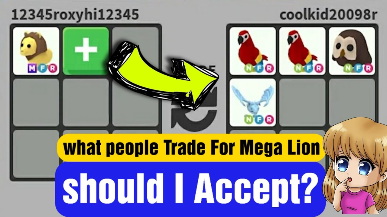 What People Offer For Mega Lion In Roblox Adopt Me Trading And Giveaway