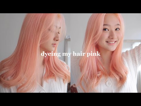 bleaching + dyeing my hair pink for only 35 pesos!! (Philippines) - YouTube