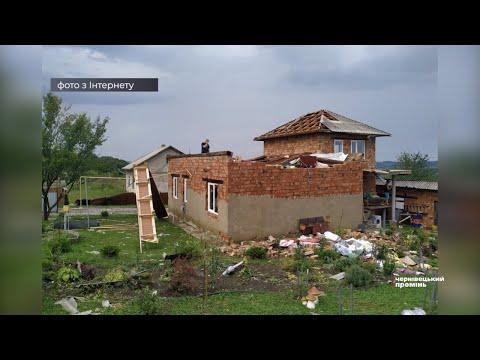 Чернівецький Промінь: На Сторожинеччині град та сильні пориви вітру пошкодили сотні будинків