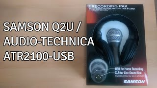 Unboxing the Samson Q2U / Audio-Technica ATR2100-USB