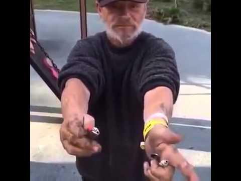Homeless Man Smoke A Bowl And Make It Down The Slide