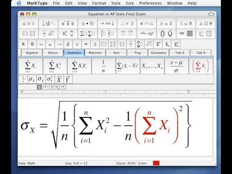 MathType بإستخدام برنامج الـ Word كتابة المعادلات بشكل سهل على برنامج الـ - YouTube