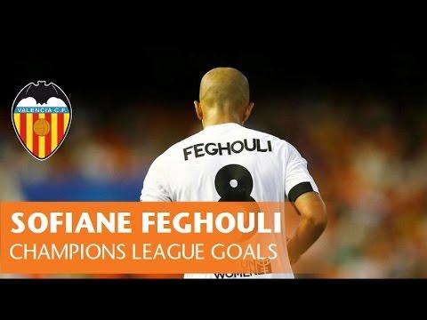 SOFIANE FEGHOULI | ALL CHAMPIONS LEAGUE GOALS | VALENCIA CF