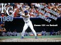 Bo Knows Baseball --Season Replay of 1989 Kansas City Royals Game131 vs Detroit --Live Stream