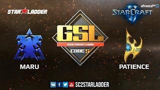 2018 GSL Season 2 Ro16 Group A Match 1: Maru (T) vs Patience (P)