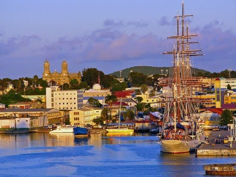 St. John's, capital of Antigua and Barbuda, tropical holiday destination, Category 4 Hurricane Irma