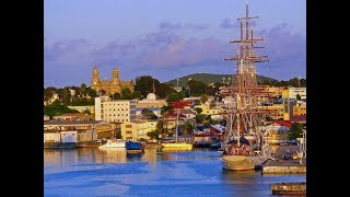 St. John's, capital of Antigua and Barbuda, tropical holiday destination, Category 4 ...
