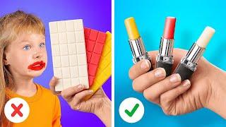먹을 수 있는 립스틱?! 음식을 활용한 영리한 가정교육…