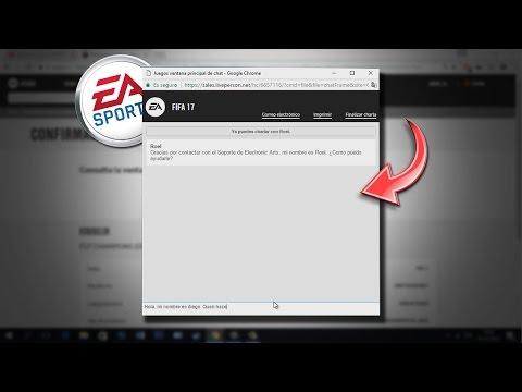 COMO RECLAMAR A EA SPORTS Y ESTAR EN UN CHAT EN VIVO CON ELLOS - FIFA 17