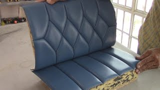 UPHOLSTERY BASICS - Blind Stiches on Diamond Figures-TUTORIAL