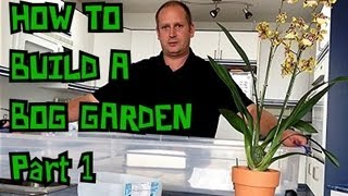 Bog Vlog 1 How To Build A Temperate Carnivorous Bog Garden For North American Carnivorous Plants.