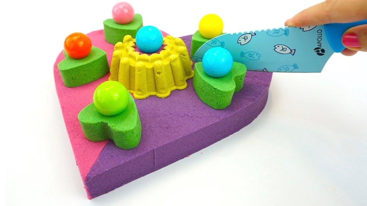 Кинетический песок, лепим торт, рукоделие для детей ...